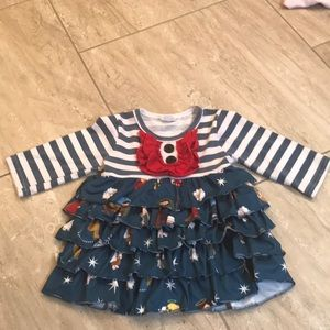 Boutique ruffle skirt nativity Christmas dress
